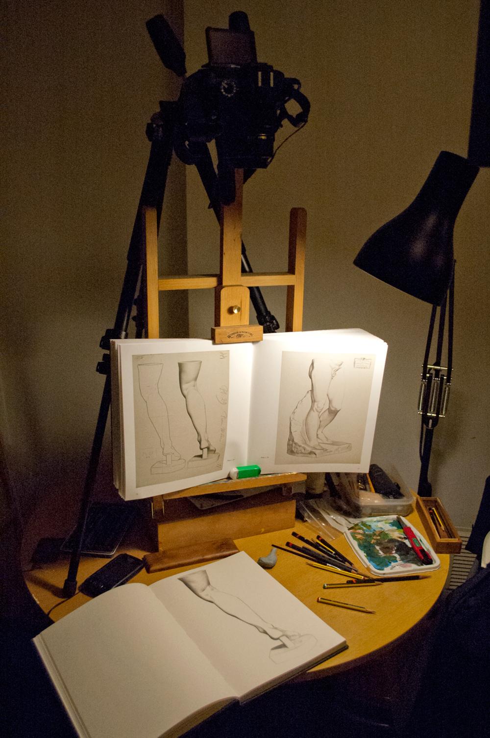 Bargue drawing setup