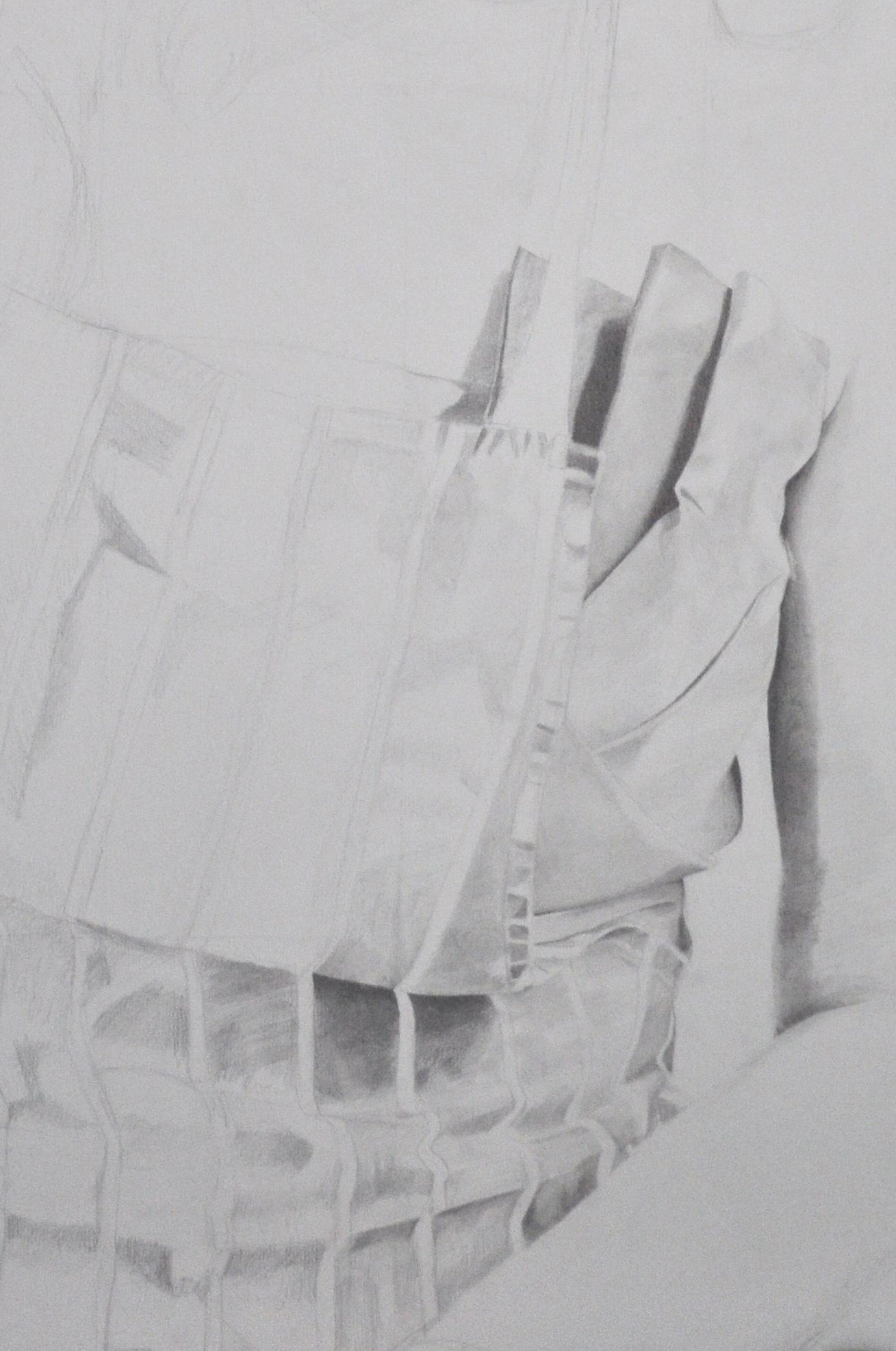 White apron hours - Detail Pencil Portrait Progress Jess In Apron 20 Hours